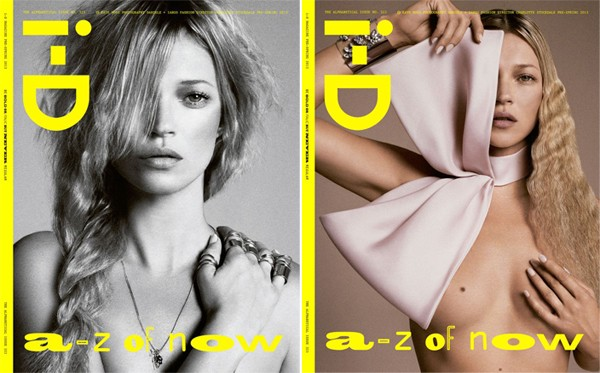 Kate Moss lands four covers for i-D's 'Alphabetical issue'