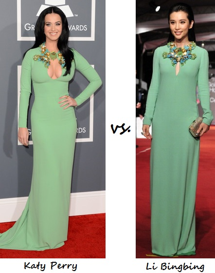 katy  vs li in Gucci