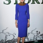 Nicole Kidman rocks electric blue L'Wren Scott straight from AW13 LFW runway