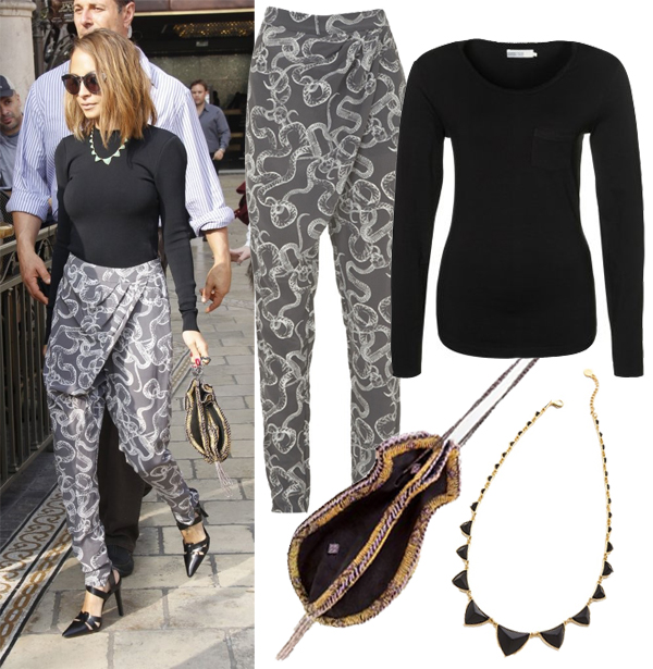 Get Nicole Richie's harem pants look
