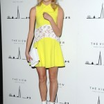 Pixie Lott embraces the bright trend at The Shard launch