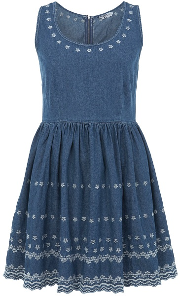 selfridges denim dress