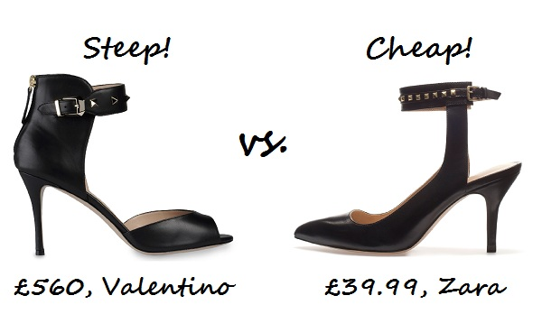 steep v cheap valentino