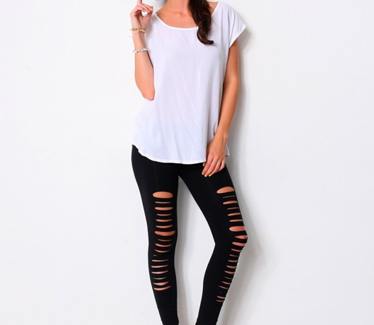 Long tights with cuts… yay or nay?