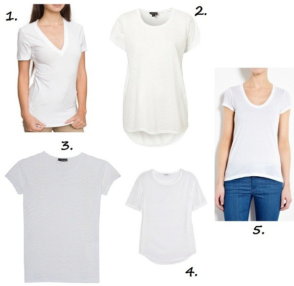 5 of the best white t-shirts