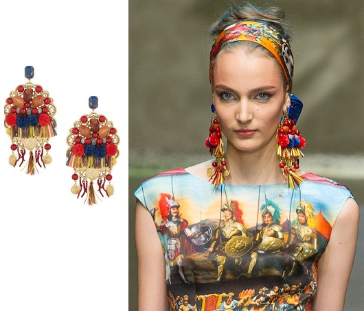 trends dolce tasseled accessories earrings ss crystal and gabbana s