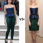 Freida Pinto vs. Emma Stone: Who wore Burberry Prorsum better?