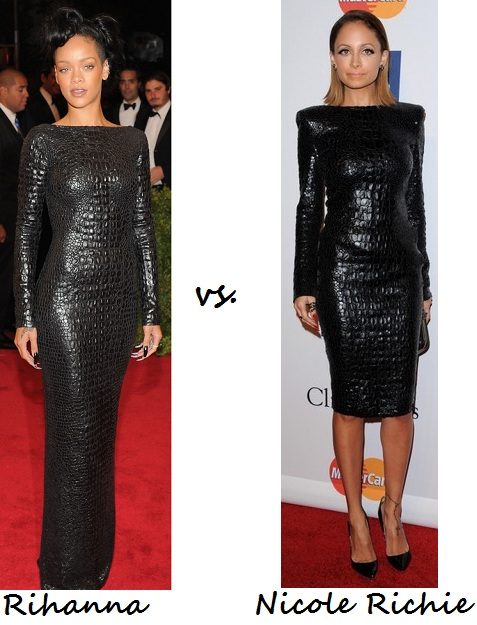 Rihanna vs. Nicole Richie: Who wore Tom Ford's crocodile dress better?
