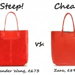 Steep vs. Cheap: Bright leather tote