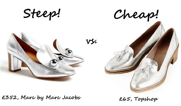 Steep vs. Cheap: Metallic slip-ons
