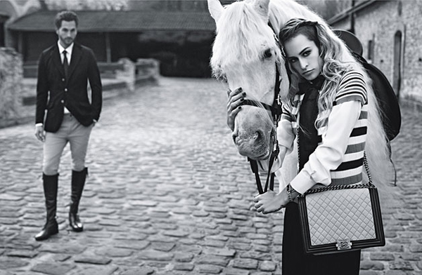 Alice Dellal returns for Boy Chanel SS13 ad campaign