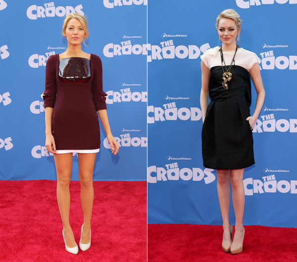 Blake Lively and Emma Stone make a welcome return at The Croods premiere
