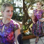 Style crushing on Dianna Agron's flirty floral Hollywood look