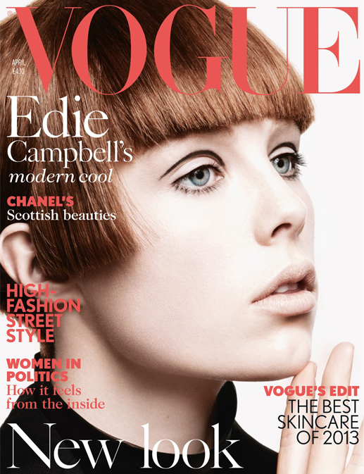 Edie Campbell makes her British Vogue debut for April issue