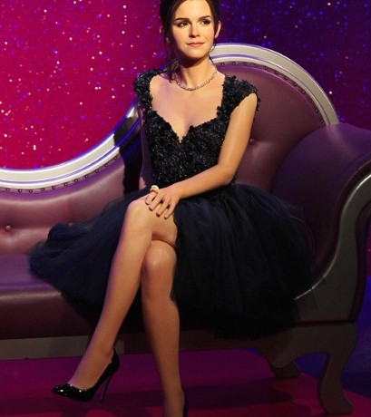 Emma Watson wears Elie Saab for Madame Tussauds waxwork