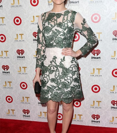 Emmy Rossum champions the British High Street in dazzling Topshop dress