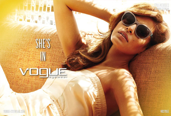 Eva Mendes is the new face (and eyes) of Vogue Eyewear