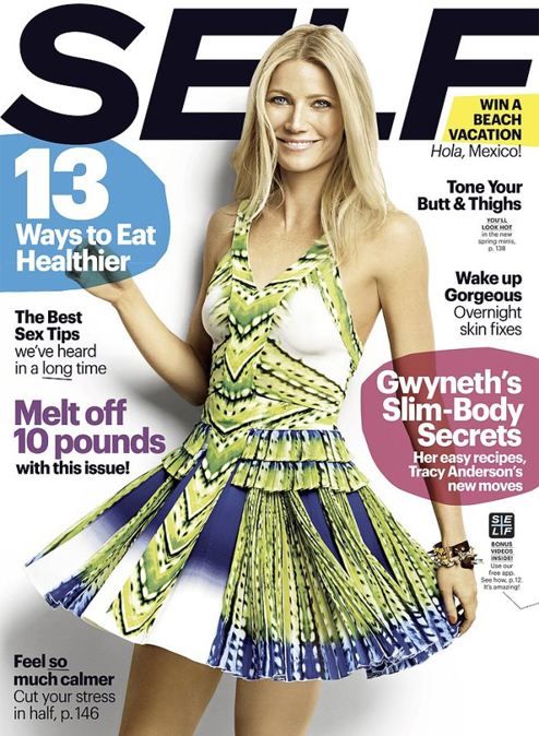 Gwyneth Paltrow chats sisterhood, detoxing and de-stressing in Self's April issue