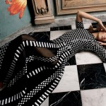 Karlie Kloss (and her longer locks) pose pretty for Moda Operandi SS13 ad campaign