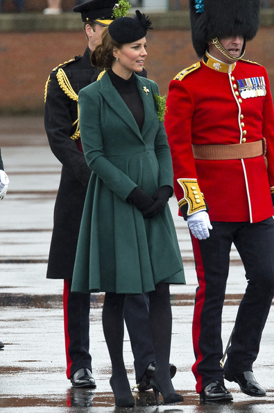 Kate Middleton recycles green Emilia Wickstead for Saint Patrick's Day celebrations