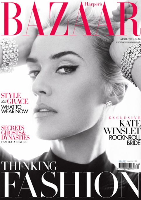 Kate Winslet talks The Queen, Sarah Burton, and her new life in Harper's Bazaar UK April