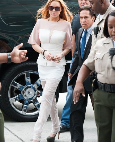 Lindsay Lohan tries to be angelic in 3.1 Phillip Lim