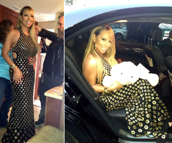 Mariah Carey wows the American Idol crowd in Alexander McQueen