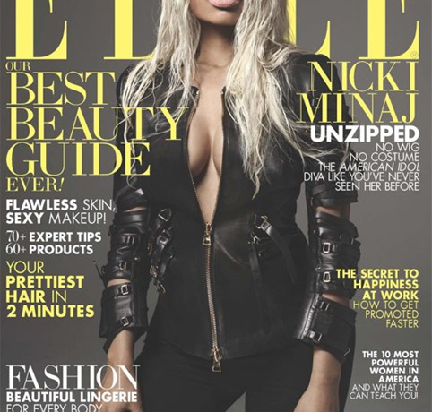 Nicki Minaj gets a make-under for Elle US April