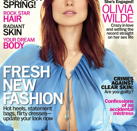 "Olivia Wilde talks falling ""madly in love"" in Marie Claire US April issue"