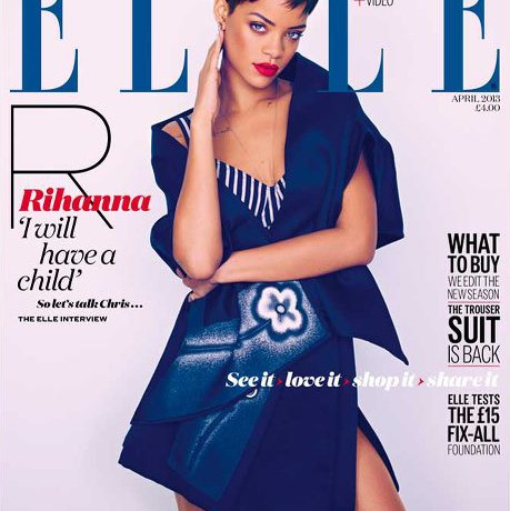 Rihanna's Elle UK April covers finally unveiled