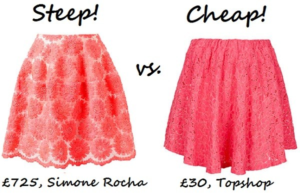 Steep vs. Cheap: Colour-pop skirt