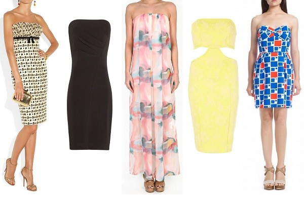 5 spring-to-summer strapless dresses we love!