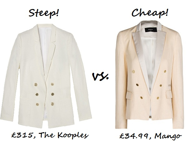 STeep v cheap white blazer