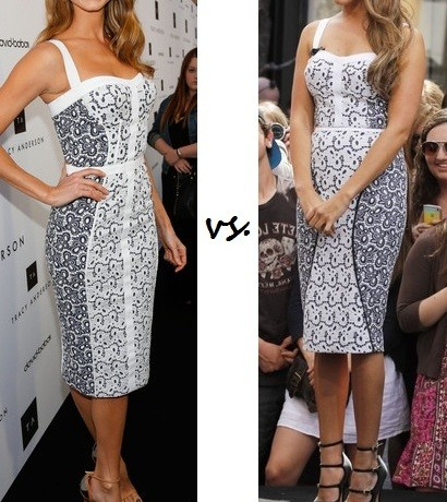 Stacy Keibler vs. Ashley Tisdale: Who wore Rebecca Minkoff better?