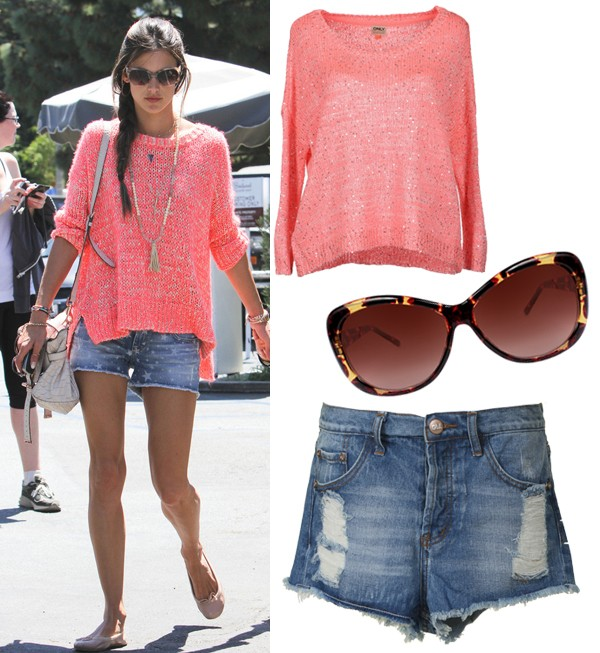 Get Alessandra Ambrosio's off-duty spring style