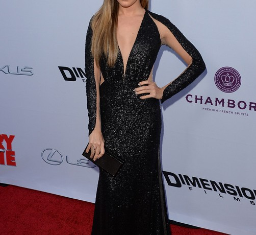 Ashley Tisdale sizzles in sparkly Maria Lucia Hohan for Scary Movie 5 premiere