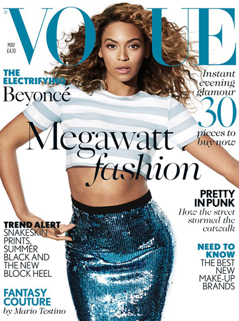 Beyonce lands British Vogue May cover!