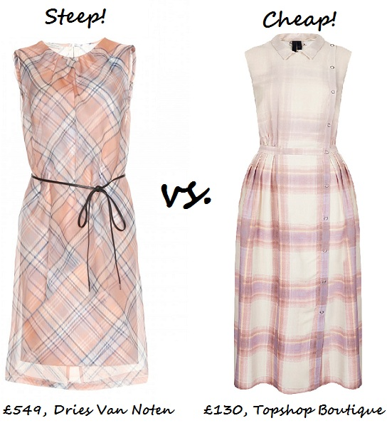 check dress steep v cheap