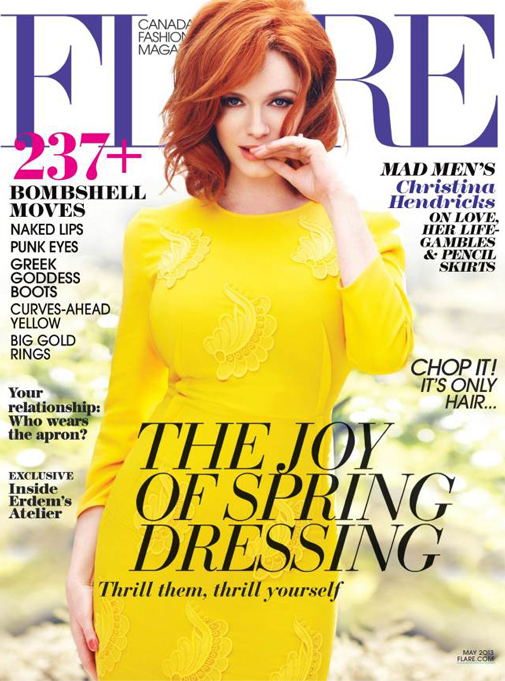 Christina Hendricks bursts onto Flare's May issue in Stella McCartney