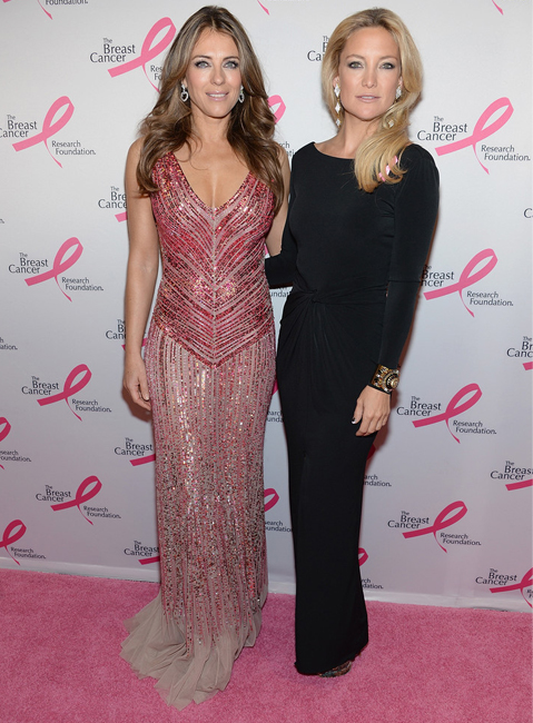 Elizabeth Hurley and Kate Hudson wow at Breast Cancer Foundation party