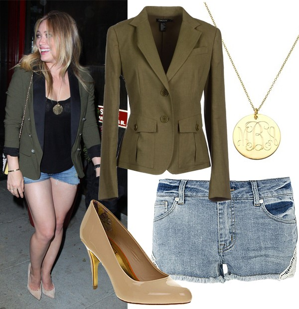 Get Hilary Duff's daring military look