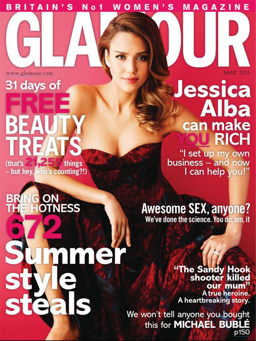 Jessica Alba dishes business tips in Glamour UK May