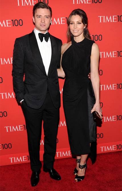Jessica Biel wears Tom Ford to support her man at Time 100 Gala