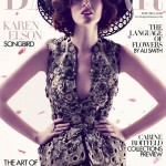 Karen Elson stuns in Alexander McQueen for Harper's Bazaar UK May