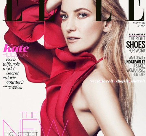 Kate Hudson wears Gucci for Elle UK May cover