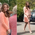 Kate Middleton pretty in peach Tara Jarmon for Children's Hospice Week