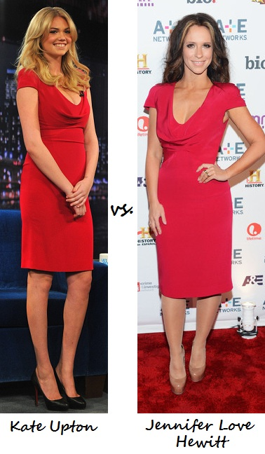 Kate Upton vs. Jennifer Love Hewitt: Who wore Alexander McQueen better?