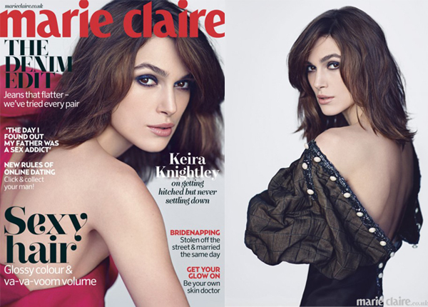Keira Knightley wears Valentino for Marie Claire UK May