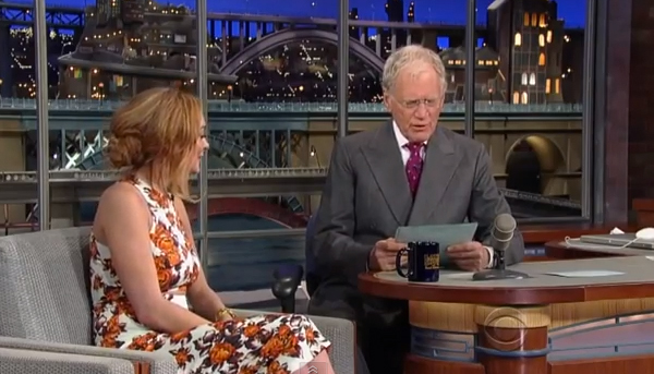 Watch Lindsay Lohan cry on David Letterman