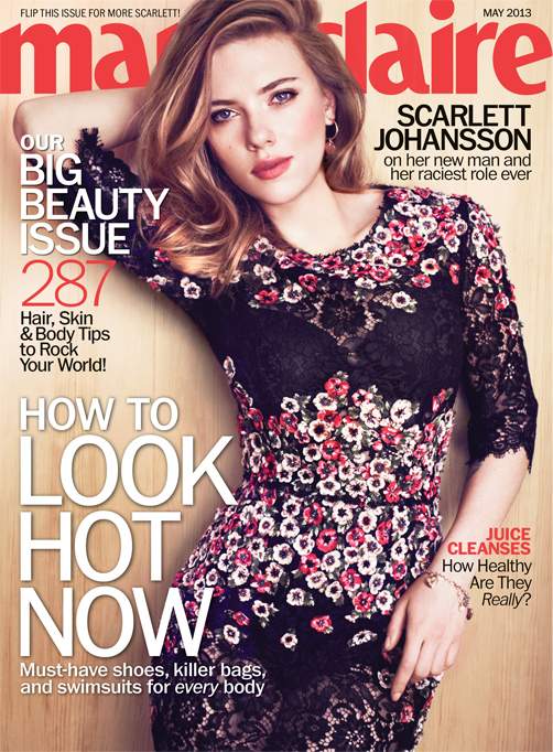 """I don't like jealous behaviour"" – Scarlett Johansson, Marie Claire US May"